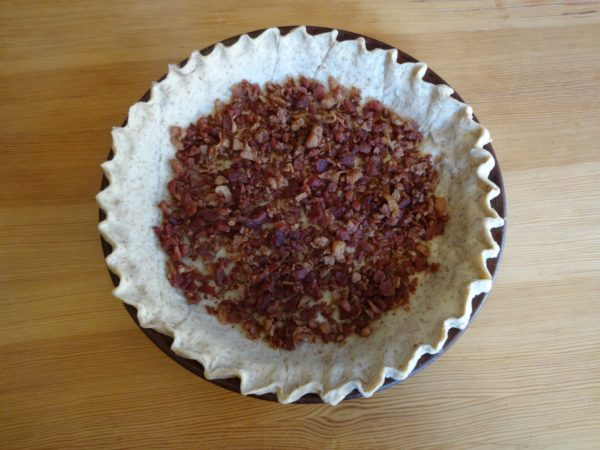 Crimped Pie Crust w Bacon