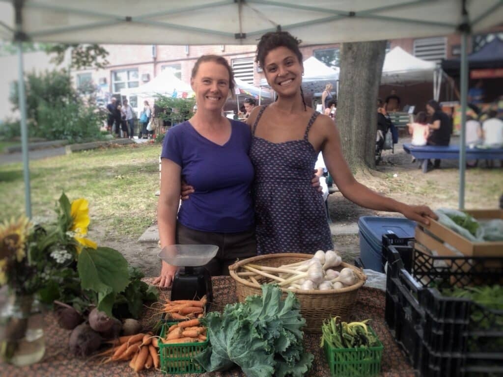 Jenny + Lauren at Dufferin Grove Market in Toronto